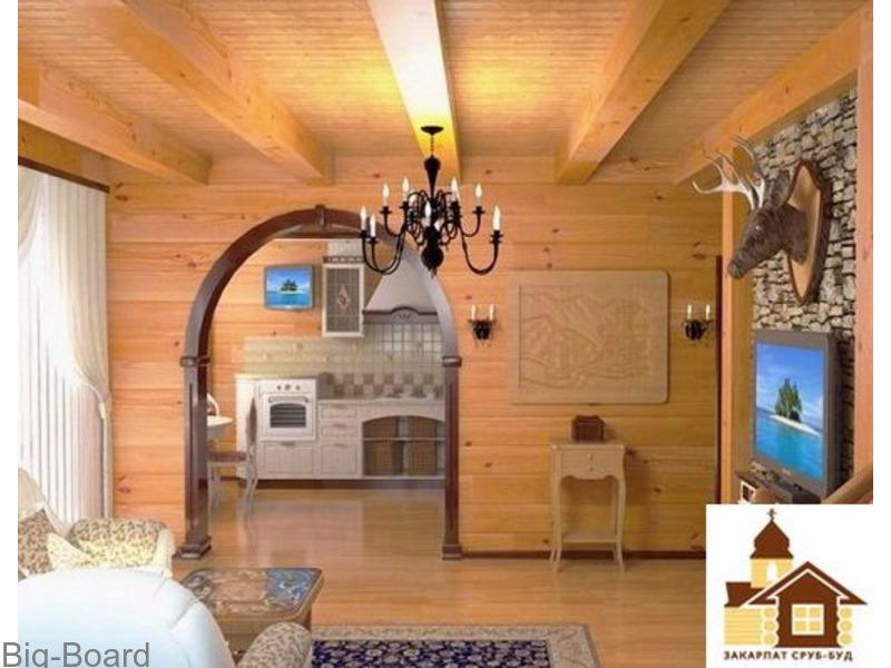 Внутренняя отделка дома из бруса фото своими руками